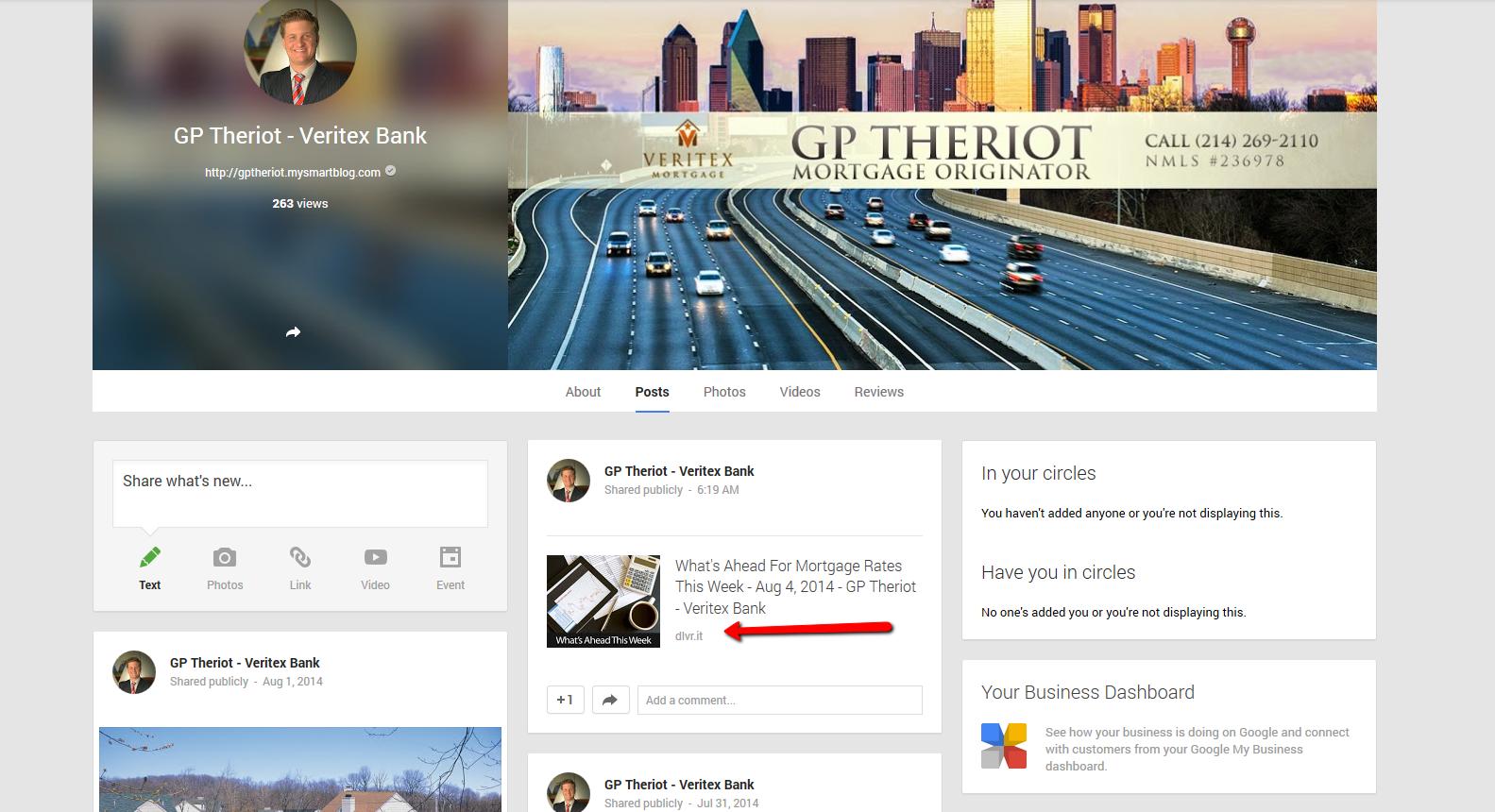 Google Plus Example Posts